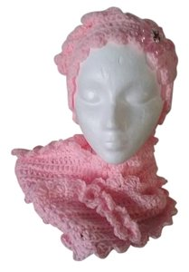 Crocheted by me New, one of a kind, never used, hat and infinity neck-warmer set
