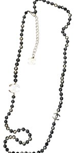 Chanel Chanel costume Jewelry black And Gold Bead Necklace 16S