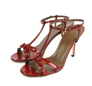 Gucci Micro Gg Patent Red Sandals