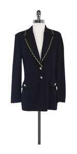 St. John Long Black Knit Button Jacket