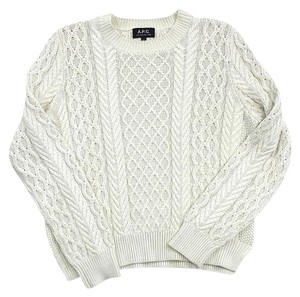 A.P.C. Cream Cable Knit Sweater