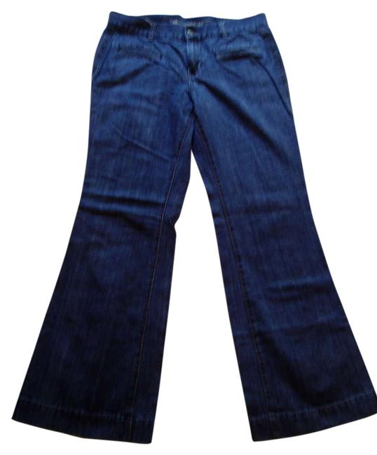 Item - Blue and Black The Sweetheart Trouser/Wide Leg Jeans Size 34 (12, L)