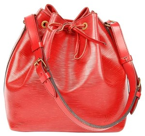 Louis Vuitton Petit Noe Noe Epi Canvas Tote in Red