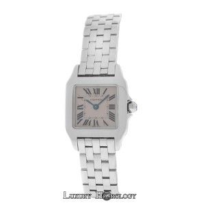 Cartier Authentic Mint Ladies Cartier Santos Demoiselle 2698 Steel Pink MOP