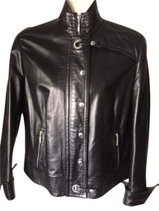 Escada Leather Soft Black Jacket