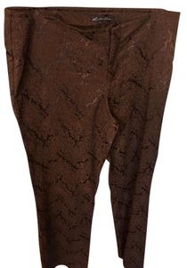 Lillie Rubin Evening Straight Pants Choc Brown