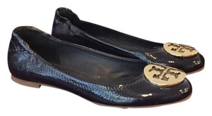 Tory Burch Navy patent leather Flats