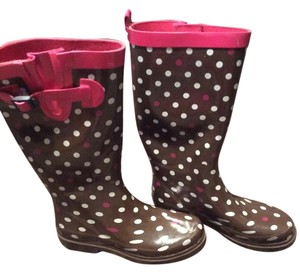 Capelli New York Rain Polka Dots Brown/pink Boots