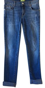 Versace Skinny Soft Distressed Straight Leg Jeans