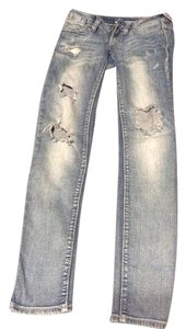 Bullhead Denim Co. 00 Ripped Skinny Jeans-Distressed