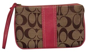 Coach Wristlet in Hot Pink
