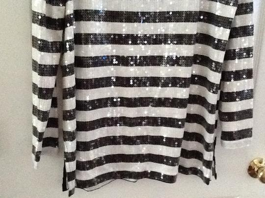 Joan Vass Stripes And White With Sequins Sz 2 Tunic - 62% Off Retail outlet