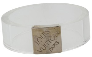 Louis Vuitton Clear lucite Louis Vuitton Nightclub Monogram wide bangle bracelet