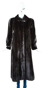 Scaasi Vintage Dark Long Fur Coat