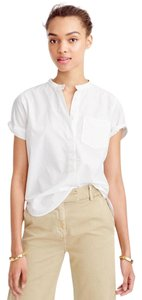 J.Crew Popover Shirt Top White