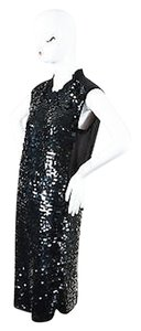 Lanvin Silk Chiffon Paillette Sequin Embellished Sleeveless Dress