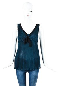 Fendi Silk Chiffon Top Teal