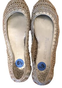 Jack Rogers Woven Gold Nude, tan Flats
