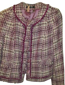 Express Tweed Button Pink Jacket