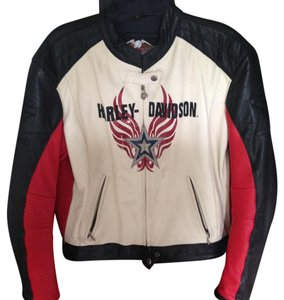 Harley Davidson Top White, black, red