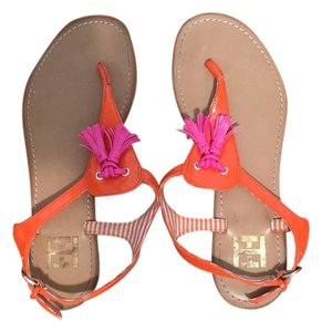 Tommy Hilfiger Neon Pink Strappy Pink, orange Sandals