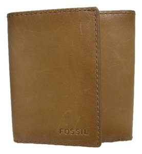 Fossil Fossil Tan Light Brown Leather Trifold Men's Pocket Wallet