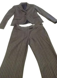 Theory 2-piece stripe brown and beige SUIT.