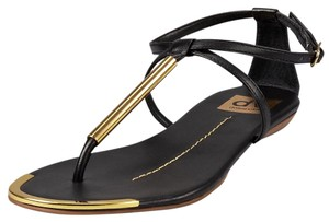 DV by Dolce Vita Black and Gold Sandals