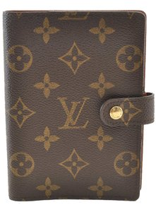 Louis Vuitton Louis Vuitton Monogram Agenda PM Day Planner Cover R20005