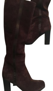 Prada Suede chocolate brown Boots