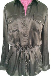 Banana Republic Tunic Silk Top Chocolate Brown
