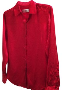 DKNY 100%silk Top RED