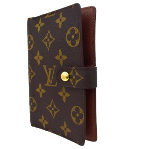 Louis Vuitton LOUIS VUITTON Agenda PM Notebook Cover Monogram Canvas Brown R20005