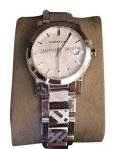 Burberry Burberry Check Engraved Solver Watch