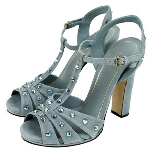 Gucci Jacquelyne Crystal Studs Suede Pool Water Sandals