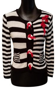 Ball of Cotton Striped Sweater Made In Usa Boc Knitting Company Cardigan