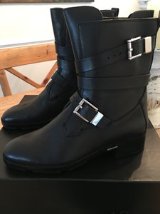 Alexander Wang Leather Biker Black Boots