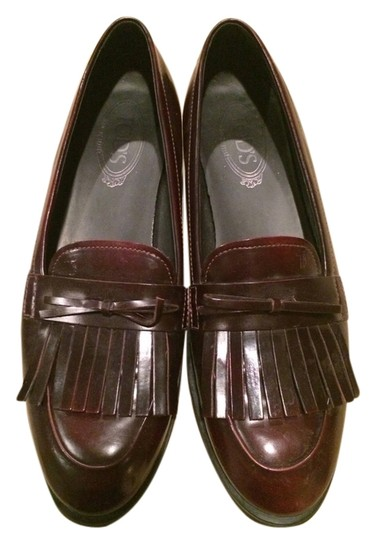 Preload https://item5.tradesy.com/images/tod-s-cranberry-brown-penny-loafers-flats-size-us-10-1978689-0-0.jpg?width=440&height=440