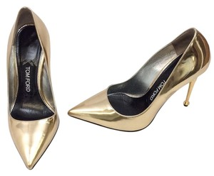 Tom Ford Gold Pumps