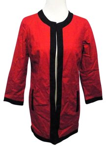 Chico's Career Modern Updated Red and Black Blazer