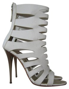 Giuseppe Zanotti Cage Ankle Heels White Boots