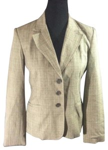 Rafaella Career Boyfriend Brown and Beige Blazer