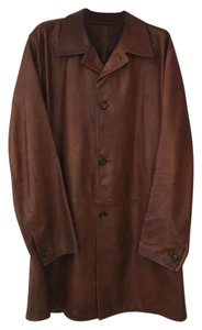 Prada Leather Pre-owned Men's Pea Coat