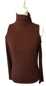 Cache Cut-out Top Choc brown