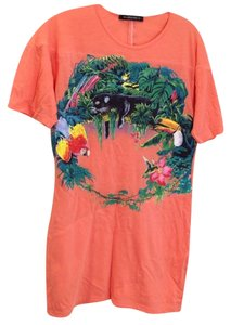 Balenciaga Panther Jungle Designer T Shirt Coral