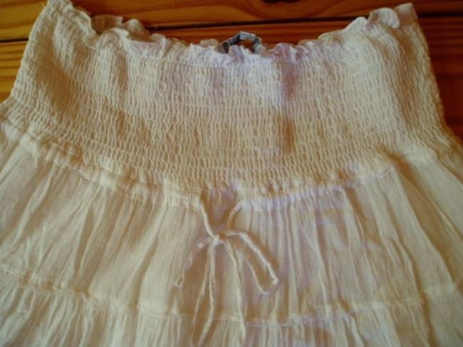 Other Tiered Mini Skirt White