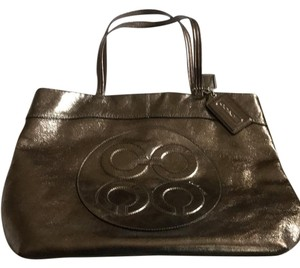 Coach Tote in Metallic Gray