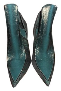 Christian Siriano Bootie Jacquard Lurex Hunter Green Boots