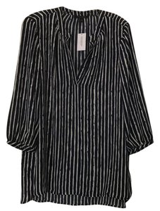 Banana Republic Striped Top Navy and cream