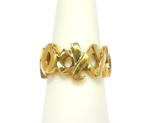 Tiffany & Co. Tiffany & Co 18K Yellow Gold Hugs and Kisses Ring Size 5
